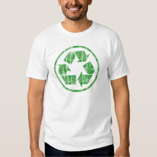 Recycling to Save the Planet Earth, Symbol Emblem T Shirt