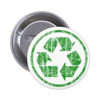 Recycling to Save the Planet Earth, Symbol Pinback Button