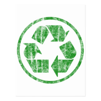 Recycling to Save the Planet Earth, Symbol Postcard
