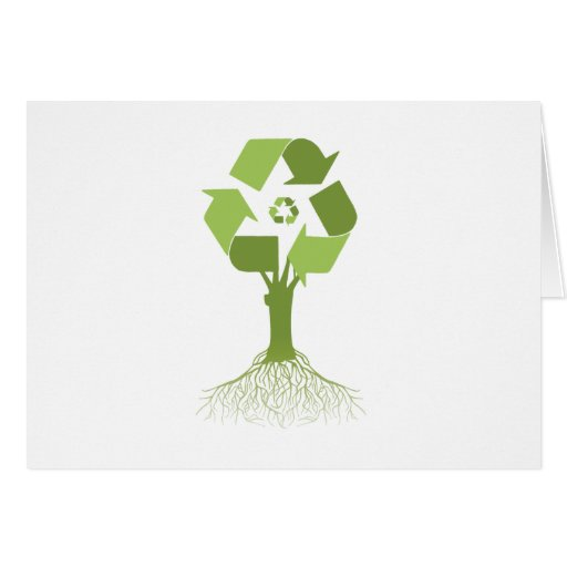 RECYCLING TREE - GREETING CARD