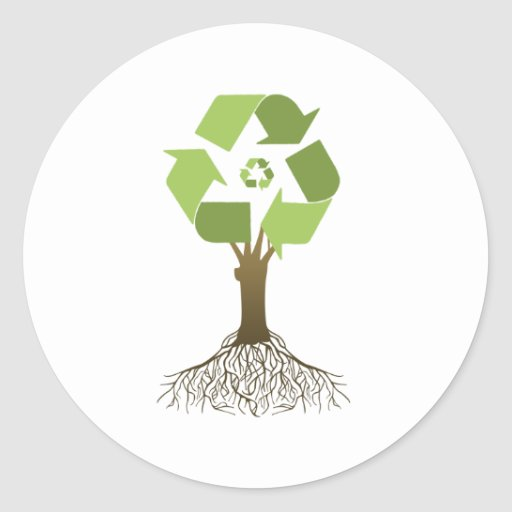 RECYCLING TREE STICKERS