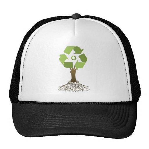 RECYCLING TREE TRUCKER HATS