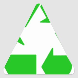 Recycling Triangle Sticker