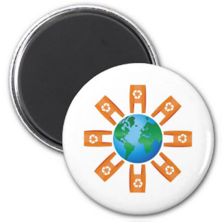 Recycling World 2 Inch Round Magnet