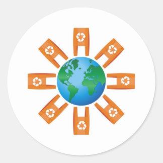 Recycling World Classic Round Sticker