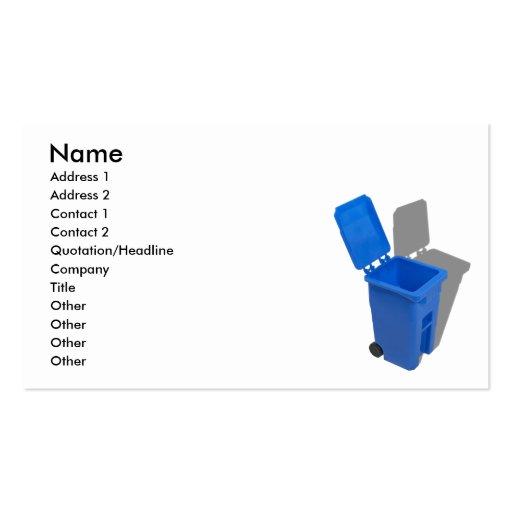 RecyclingBin082010, nombre, dirección 1, dirección Tarjetas De Negocios
