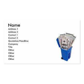 RecyclingSaveMoney090810, nombre, dirección 1, Tarjetas De Visita