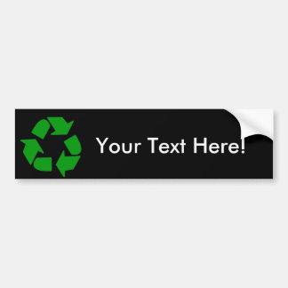 Recylce bumper sticker car bumper sticker