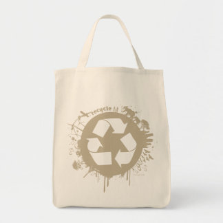 Recylce Splat Organic Tote bag