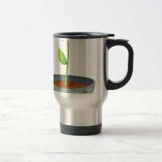 Recylce symbol 15 oz stainless steel travel mug