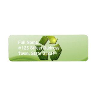 Recylce Symbol Mailing Label Return Address Label