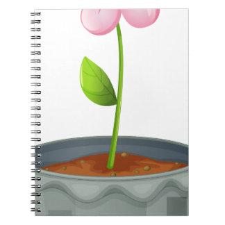 Recylce symbol spiral notebook