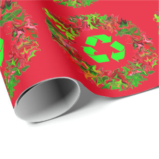 recylce wreath wrap wrapping paper