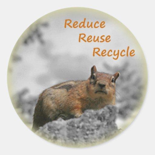 Recyle Chipmunk Stickers