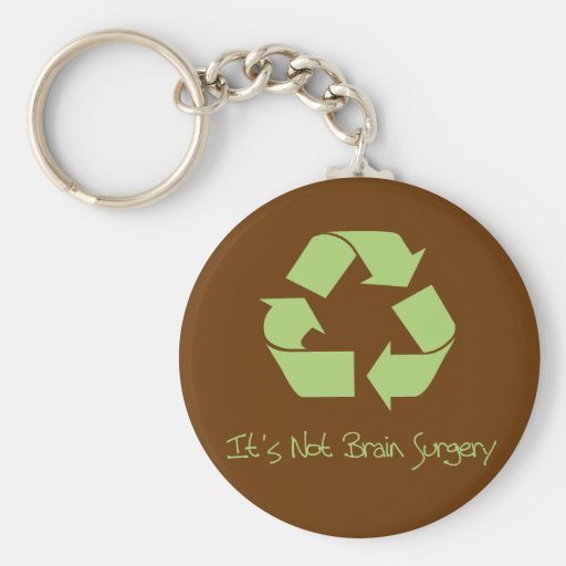 Recyle it's Easy Keychain
