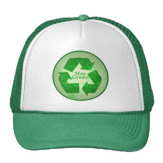 Recyle, Stay Green Trucker Hat