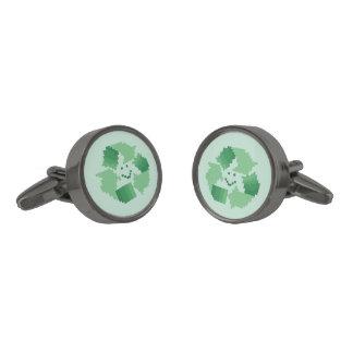 Recyle symbol cufflinks