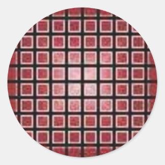 red042 classic round sticker