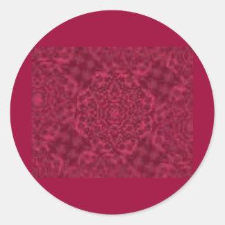 red054 classic round sticker