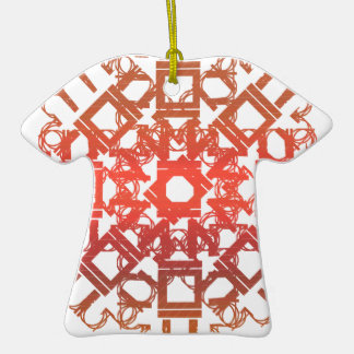 Red 101STAR Double-Sided T-Shirt Ceramic Christmas Ornament