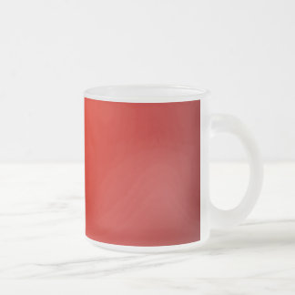 Red 10 Oz Frosted Glass Coffee Mug