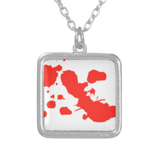 red-1219-cl silver plated necklace
