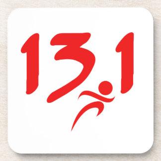 Red 13.1 half-marathon coaster