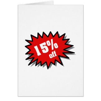 Red 15 Percent Off Card