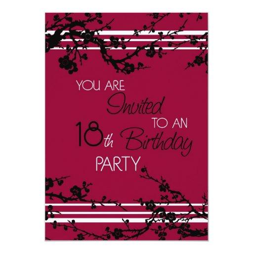 Red 18th Birthday Party Invitation Card | Zazzle