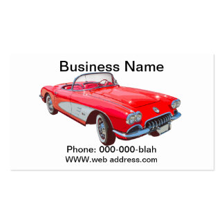 Red 1958 Corvette Convertible Business Card Templates