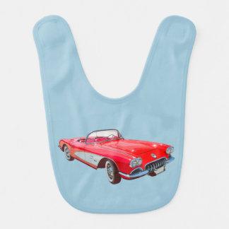 Red 1958 Corvette Convertible Classic Car Bibs