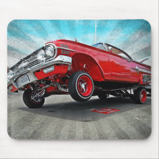 Red 1960 Chevy Impala Lowrider Mousepad
