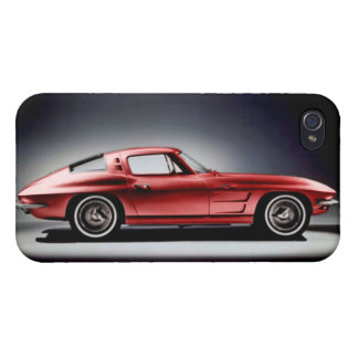 Red 1963 Corvette Sting Ray iPhone 4 Cover