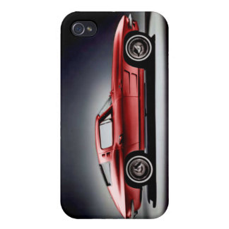 Red 1963 Corvette Sting Ray iPhone 4 Covers
