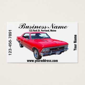Red 1966 Chevy Chevelle SS 396 Business Card