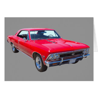 Red 1966 Chevy Chevelle SS 396 Card