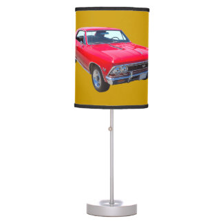 Red 1966 Chevy Chevelle SS 396 Desk Lamp