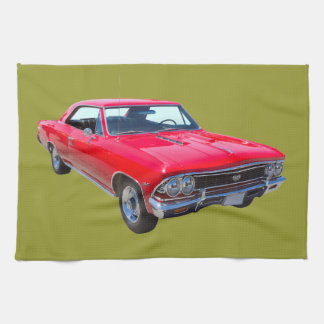 Red 1966 Chevy Chevelle SS 396 Hand Towel