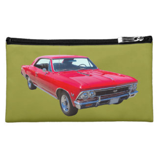 Red 1966 Chevy Chevelle SS 396 Makeup Bag