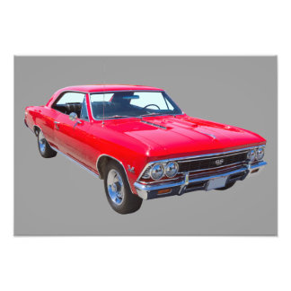 Red 1966 Chevy Chevelle SS 396 Photo Print