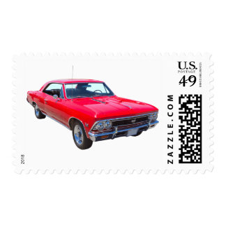 Red 1966 Chevy Chevelle SS 396 Postage Stamp