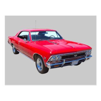 Red 1966 Chevy Chevelle SS 396 Postcard