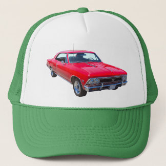Red 1966 Chevy Chevelle SS 396 Trucker Hat