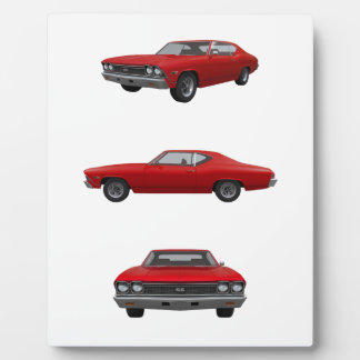 Red 1968 Chevelle SS Photo Plaques