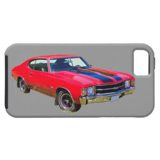 Red 1971 Chevrolet Chevelle SS Muscle Car iPhone 5/5S Covers
