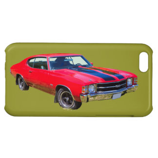 Red 1971 Chevrolet Chevelle SS Muscle Car iPhone 5C Cases