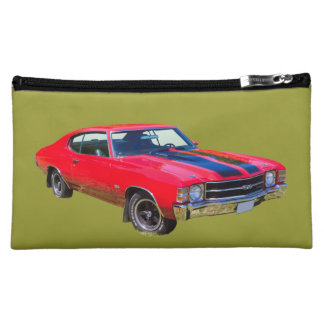 Red 1971 Chevrolet Chevelle SS Muscle Car Makeup Bag