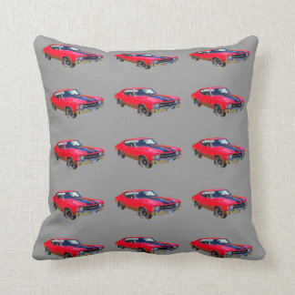 Red 1971 Chevrolet Chevelle SS Muscle Car Pillows