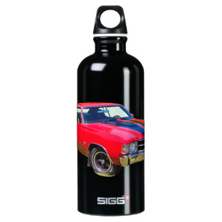 Red 1971 Chevrolet Chevelle SS Muscle Car Water Bottle