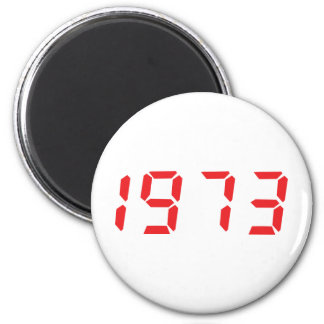 red 1973 icon 2 inch round magnet